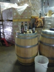 Wine Barrels in McLaren Vale.  Paul Petanga's wine workshop, you literally felt like you were snooping in his garage, regardless, his wine was incredible