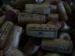 Corks at Alpha Box and Dice, McLaren Vale. At Alpha they still cork the wine, a technique fairly unusual for New World wineries