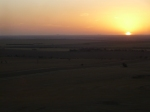 Watching the Sunset from Mount Wudinna - My favourite sunset of the trip, if a little apocalyptic