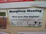 Some local sheep shearing services spotted in a WA Roadhouse - The subhead is inspired